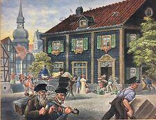 Bergisches Land  Lennep ? Meise Adolf 1945 Gouache nach Historisier.Gemälde 1745