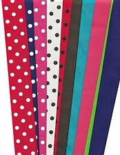 Grosgrain ribbon solids and polka dots 1-1/2 inch wide 20 yards great mix
