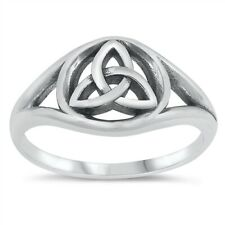 925 Sterling Silver Triquetra Celtic Design Band Ring Sizes 5-10 NEW