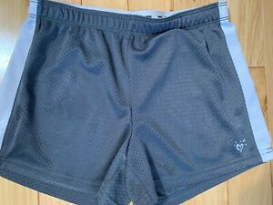 JUSTICE Gray Elastic Waisted SHORTS Girls Size 14 100% Polyester