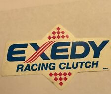 Vintage Unused EXEDY Racing Clutch Decal Sticker Red White Blue