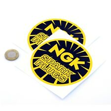 NGK Spark Plugs Stickers Racing Vinyl Decals 100mm x2 YELLOW Nissan 240Z
