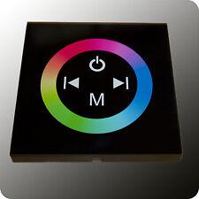 Design Glas LED Controller RGB - Einbau - schwarz - 12V/24V - 3x4A - Farbrad