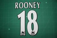 F.A. Premier League Player Size Name & Numbering Printing #18 ROONEY