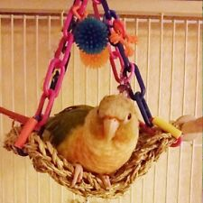 Mini Flying Trapeze Toy Bird Parrot Parakeets Lovebirds Swing Exercise Pear Link