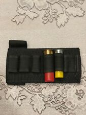 Unbranded Shotgun Buttstock Shell Holder Black Belt Loop and Strap Used 12/20ga