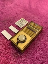 NuTone Vintage PB-8L Art Deco gold lighted placard and button doorbell NOS.