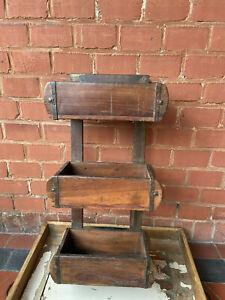 alte Ziegelform Holzkiste Vintage Shabby Küche Garten Landhaus Regal