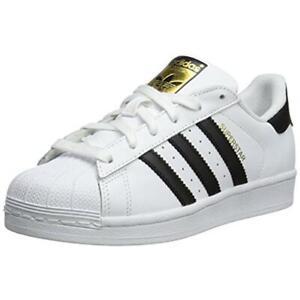 Adidas Boys White Fashion Sneakers Shoes 5.5 Medium (D) Big Kid BHFO 4842