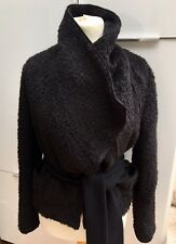 Vintage Dolce & Gabbana Black Alpaca Wool Blend Short Coat Jacket  IT46/UK 14