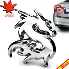 PEGATINA ADHESIVO CROMADO COCHE DRAGON RELIEVE EMBLEMA CAR TUNING ADHESIVE DECAL