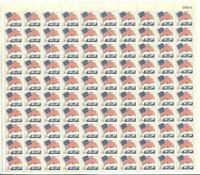 US SCOTT1208 PANE OF 100 FLAG OVER WHITE HOUSE 5 CENT FACE MNH
