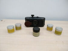 Vintage set. Handheld pocket filmoscope + 5 pcs filmstrips. USSR 50s Rare