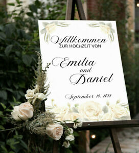 Hochzeitsschild, Willkommensschild, Hochzeit, Hochzeitsdeko, Personalisiert