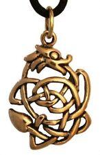 Kleiner Glücksdrache Dagan Anhänger Bronze Gothic Schmuck - NEU