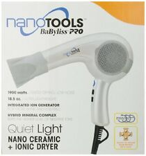 BABYLISS PRO NANO TOOLS WHITE CERAMIC IONIC 1900 WATTS HAIR DRYER