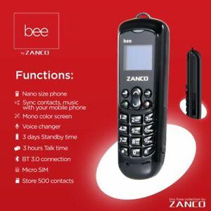 New Latest ZANCO small phone bee Unlock GSM Sim Bluetooth dail mobile phone