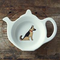 Tea Bag Holder Dish Rest GERMAN SHEPHERD Dog   Great Gift for Alsatian Lovers