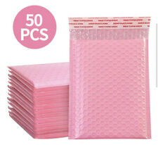 50pcs Lot Pink Bubble Mailers Padded Envelopes Packaging Shipping Bags Blank New