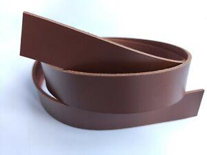 """3.5mm Leather Strip Strap Band. Leather Belt Blank Strips. 9 oz 51-55"""" Сhestnut"""