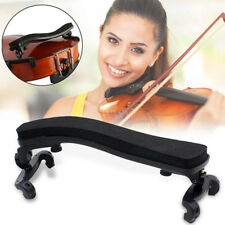 Pro Adjustable Violin Shoulder Rest Fully Pad Support For Violin 3/4 4/4 Black*