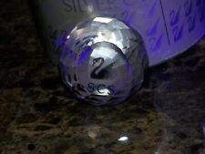 Swarovski Glass Crystal Scs Ball Retired Paper Weight & Box