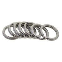Pack 20 / 50 Stainless Steel Flat Key Chain Ring Metal Split Keychain Rings Car