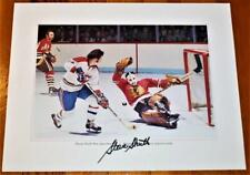 Vintage 1970's Montreal Canadiens In Action Signed 11x14 Photo Set Guy Lafleur!