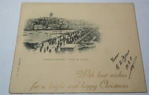 WW1 CHRISTMAS CARD CONSTANTINOPLE c 1915-18      846