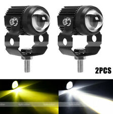 Motorcycle Led Driving Fog Lights 60w Amber And White Projector Lights For Atv