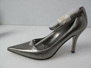 "Nine West Ankle Strap Pumps - Silver  Size 7.5"""