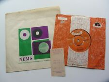 THE BEATLES 1962 POLYDOR 45 MY BONNIE JAN 1962  NEMS BAG & RECEIPT