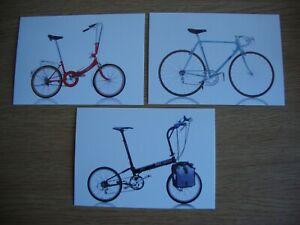 Cycles - 3 x New, Unused Postcards of Iconic Bicycles- Katakura, Cinelli, Friday