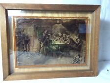 """Lucid Lines Frederick Remington """"Quarrel Over Cards"""" Photography on Glass"""