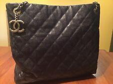 Chanel Large Grand Shopper 30cm anthracite looks black.