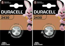 2 X Duracell CR2430 3V Lithium Coin Cell Battery DL2430 K2430L LONGEST EXPIRY