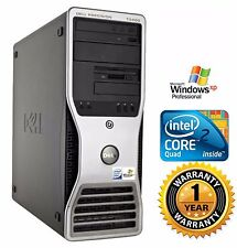 Dell T3400 TOWER PC COMPUTER DESKTOP Intel C2D Quad 2.40GHz 4GB 500GB HD Win XP