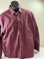Alan Flusser Men's Long Sleeve light  plaid  Shirt size Large