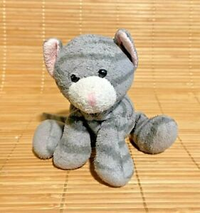 "5"" Russ Tabbies Gray Stripe Luv Pets Tabby Cat Kitten Plush Stuffed Small"