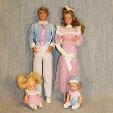 BARBIE THE HEART FAMILY MATTEL Vintage Doll 1980's Complete Mom Dad Twin Babies