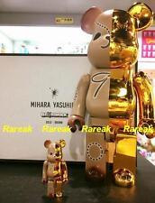 Medicom Be@rbrick 2017 Mihara Yasuhiro Gold x Brown 400% + 100% bearbrick Boxset