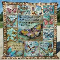 Butterfly Be The Flawed Quirky Unique Person You Are Fleece Blanket 50x60x80
