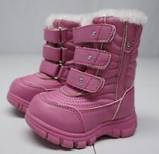 The Childrens Place Girls 5 Toddler Pink Insulated Winter Boots Nwob