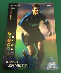 FIGURINA CARDS WIZARDS FOOTBALL CHAMPIONS 2003-04 FOIL INTER ZANETTI