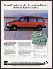 1984 DODGE Caravan Vintage Original Print AD - Red Chrysler photo English Canada