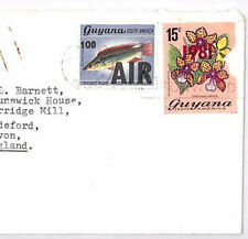 XX66 1982 GUYANA SURCHARGE *100 AIR * on 6c Commercial Airmail Cover Devon