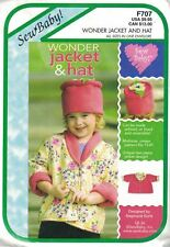 Wonder Jacket & FLOWER POT Hat Sew Baby Toddler Sewing Pattern F707 Size 1T - 4T