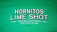"Hornitos Tequila ""Lime Shot"" V Neck T Shirt - Green - Men's Medium - Unisex -NEW"