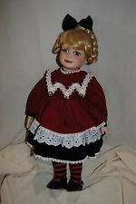 Christmas Carol Porcelain Doll by Westminster Doll Company
