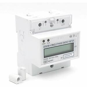 Single Phase DIN-rail Type Kilowatt Hour Kwh Meter 220V 60Hz (100)A Voltage Home
